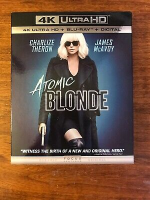 atomic blonde 4k. Includes Blu Ray 4K And Digital Code. Please Read. Great Deal