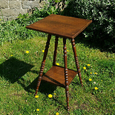 Arts & Crafts Style Solid Oak Side Table Early C20th (Edwardian)