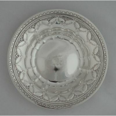 Vintage Sterling Silver Reticulated Floral Swag Bon Bon Bowl by Towle, 3.3 oz