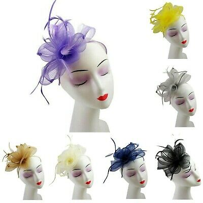 Synthetic Feathers Fascinator Aliceband Hat Hair Band Day Race Royal Ladies