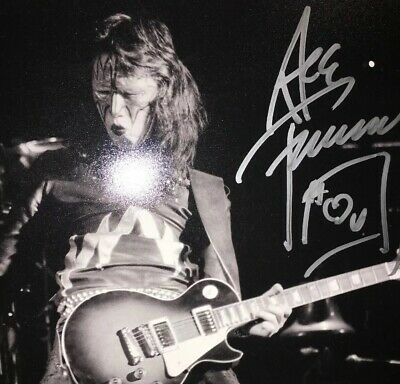 Kiss Signed Ace Frehley Len DeLessio 11x14 Print Autographed Academy Of Music