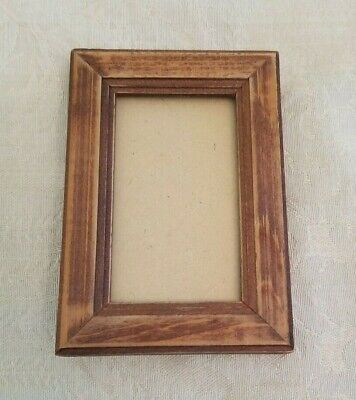 Arts and Crafts ~ Mini Wood Picture Frame Small Antique Vintage