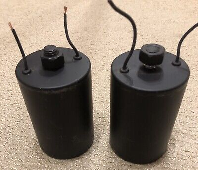 Matched Pair Black 100uF Silver Foil Polypropylene Capacitors