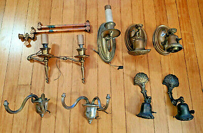 Vintage Lamp Parts - lot of 10 items