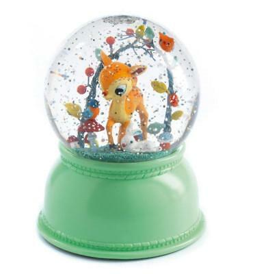 NEW Djeco Night Light Snowglobe - Bambi Fawn - Colour changing light