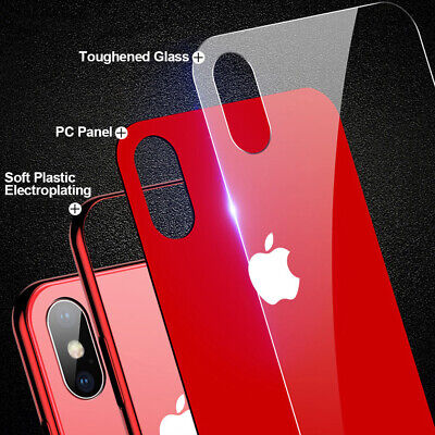Plating Tempered Glass Phone Case For iphone XS Max XS XR X 7 8  Plus