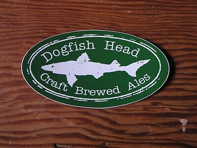 Dogfish Head Brewery Sticker ~NEW! Craft Beer Brew Logo Brewing Co. Decal~