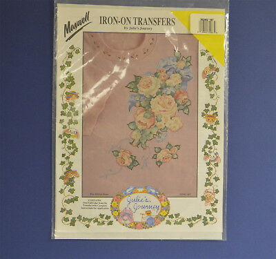 Maxwell Iron-On Transfer By Julie's Journeys Blue Ribbon Roses M2902-16T