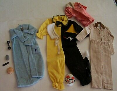Large Lot Vintage 1960'S Barbie's Boyfriend Ken Doll Clothes & Accessories