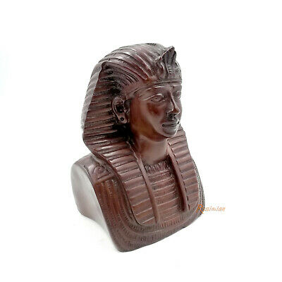 Egypt Pharaoh Headdress Resin Figurine Ancient King Tut Tutankhamen Death Mask