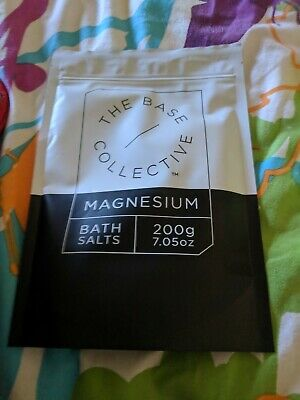 THE BASE COLLECTIVE Magnesium Bath Salts 200g Brand New Sealed Fresh Stock