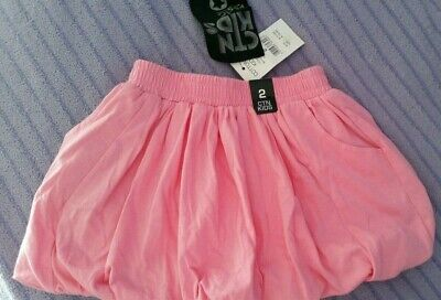 Cotton On Kids Girls Skirt Size 2 Pink Bubble Brand new with tag