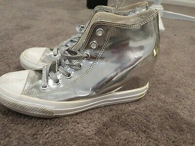 Converse Silver shoes Size 40.5 Used Authentic Sneakers wardrobe cleanout