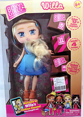 Jay at Play Boxy Girls Blonde with Blue Dress Willa new in box