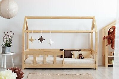 Children Bed House Frame - with safety barrier MBP