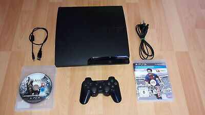 Sony Playstation 3 Slim 320 GB PS3 Spielekonsole + 2 Spiele