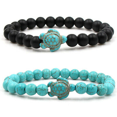 Men Stone Charm Beaded Turquoise Natural Women Hot Gifts Turtle Bracelet Lucky