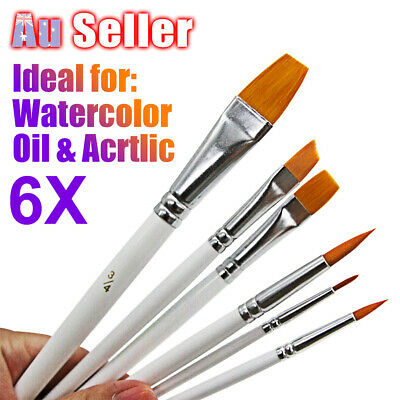 Artist Face Craft Acrylic Kit Paint Brushes Set Painting Oil Watercolour