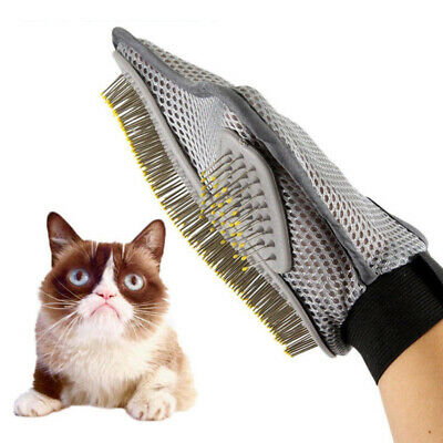 Pet Grooming Glove Brush Dog Cat Dirt Hair Fur Removal Pet Deshedding Glove