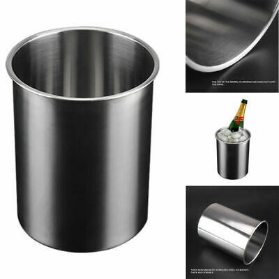 2.5L Wall Wine Cooler Stainless Steel Beverages Bottle Chiller Ice Bucket New