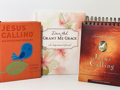 Jesus Calling: Enjoying Peace in His Presence Sarah Young Journal & Devotion Lot
