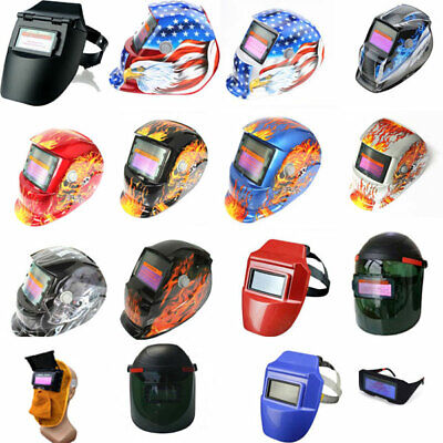 Solar Powered Auto Darkening Welding Helmet Mask ARC TIG MAG Welder Mask