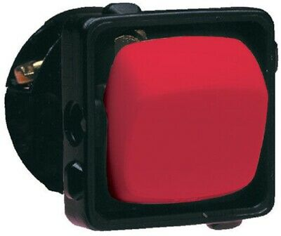 2x HPM ROCKER SWITCH MECHANISMS 1-Pole 240V Vertical Clip On RED- 10A Or 15A