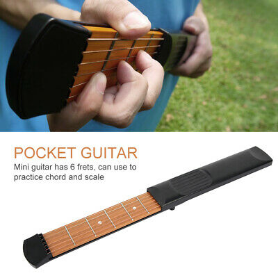 Portable 6 Fret Pocket Guitar Practice Tool Guitar Chord Trainer for Beginners