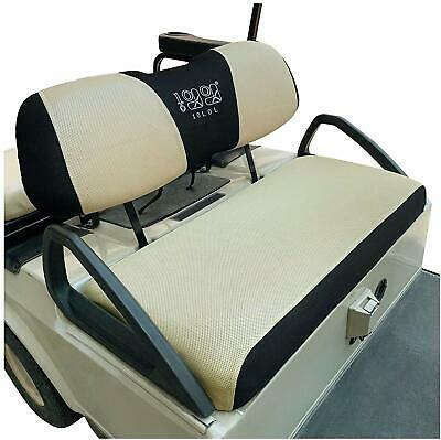 Golf Cart Bench Seat Cover Set Fit Club Car DS Precedent &Yamaha Breathable Mesh