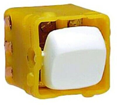 HPM ROCKER SWITCH MECHANISM 10A Double Pole Double Throw 1-Way, Vertical WHITE