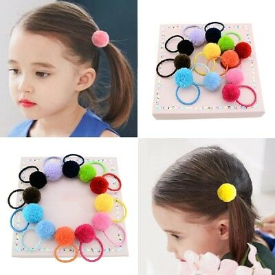 5pcs/Bag Cute Elastic Hair Bands Kids Rubber Band Girls Rope-Hairssories