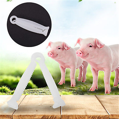 50x Safe Disposable Umbilical Cord Clamps Dog Puppy Animal Birth Whelping Clamp