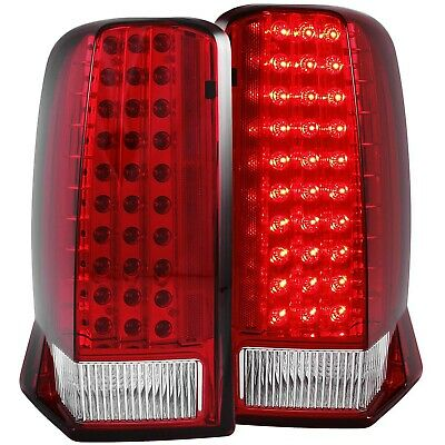 ANZO LED TAIL LIGHTS RED / CLEAR (w/o CAP) FOR 02-06 CADILLAC ESCALADE & ESV