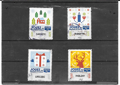 France 2018.PLUS than Greeting Deja Gratter.lot of 4 Stamps Autoa Postmarks