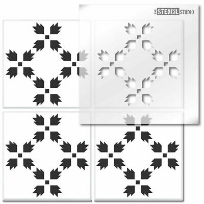 Carnation Flower Reusable Tile STENCIL. Floor, wall for painting. Decorate 10823
