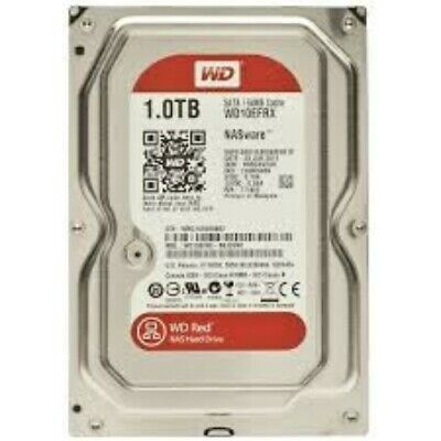 """NEW WD 1TB, WD10EFRX, RED 3.5"""" NAS HARD DRIVE, SATA 6GB/S, 64MB CACHE, 5400.a."""