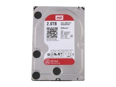 """NEW WD 2TB, WD20EFRX, RED 3.5"""" INTELLIPOWER NAS HARD DRIVE, SATA 6GB/S, 64M.a."""