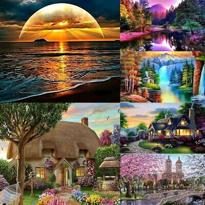 5D Diamond Painting Landscape Embroidery Cross Craft Stitch Kit Home Decor #T