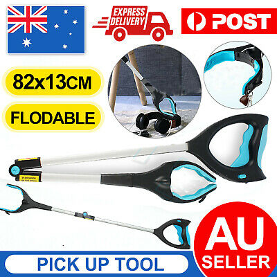 Foldable Pick Up Tool Easy Reach Grab Grabber Stick Extend Reacher #T