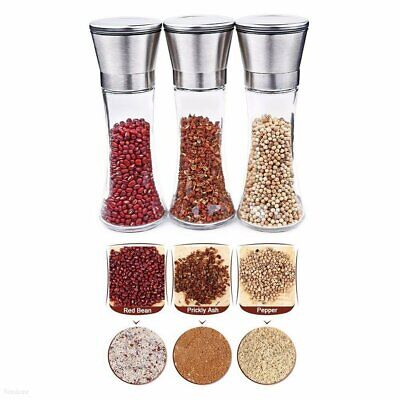 Stainless Steel Salt and Pepper Grinder of Premium Brushed Mill 5 Grade #T