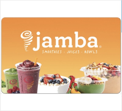 Jamba Juice Gift Card - $25, $50 or $100 - Email delivery