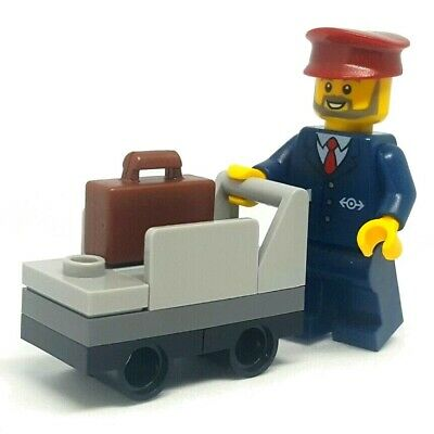 LEGO Minifigure City Train Ticket Collector Driver all mint except hat UK Seller