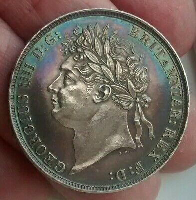 """1821 George 1V """" secundo """" crown coin """" uncirculated """""""