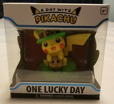 Funko A Day With Pikachu One Lucky Day Pokemon Center 2019 clover incense coin