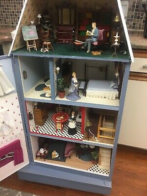 Victorian Dollhouse Kit Miniature DIY Collectible Popular Imports 100+ Electric