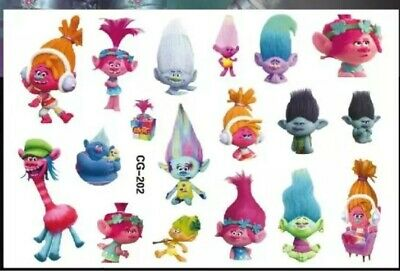 KIDS Temporary Tattoo TROLLS Great for Party Bags
