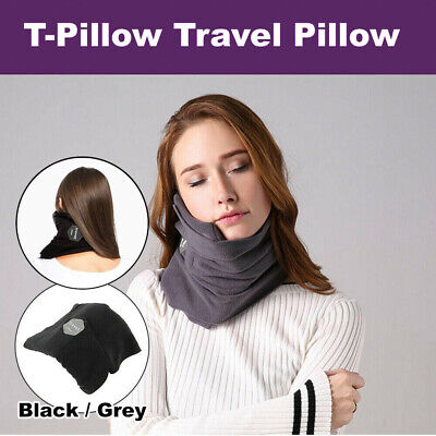 T-Pillow Portable Soft Comfortable Travel Pillow Proven Sitting Nap Neck Support