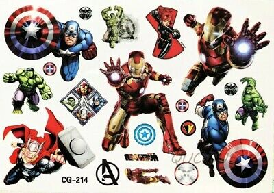 KIDS Temporary Tattoo AVENGERS Great for Party Bags