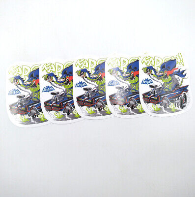 5pcs Kapow Graffiti Ed Roth Bat Fink Vinyl Decal Bicycle Rat Stickers