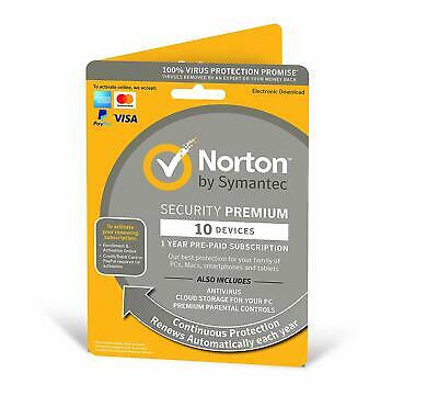 NORTON SECURITY PREMIUM 2019 10 PC DEVICE  - INTERNET SECURITY - Download